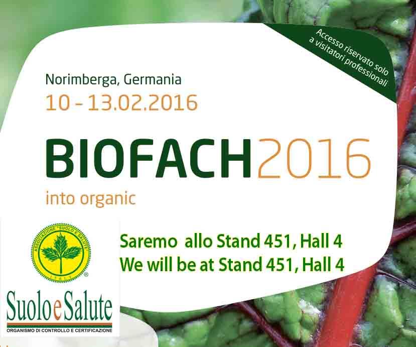 Suolo e Salute vi presenta il Biofach e Vivaness 2016