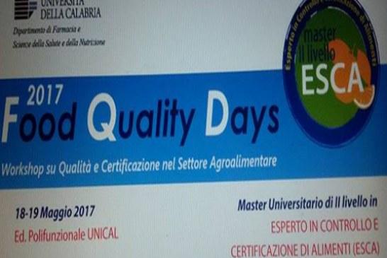 Food Quality Days: Giornate di seminari per il settore agroindustriale