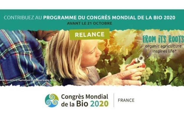 SI SVOLGERA' IN FRANCIA IL CONGRESSO MONDIALE DEL BIOLOGICO 2020