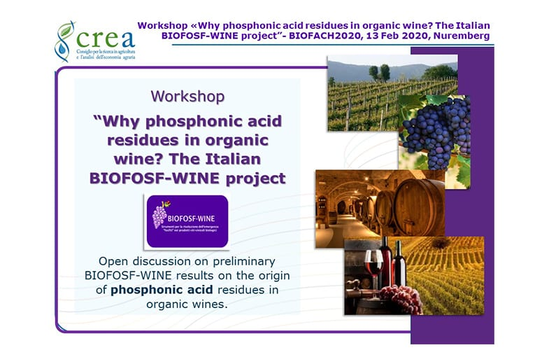 Progetto BIOFOSF-WINE: i dati presentati al Biofach 2020.