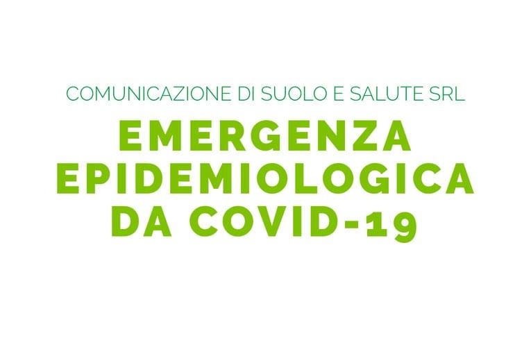 COMUNICAZIONE DI SUOLO E SALUTE: EMERGENZA EPIDEMIOLOGICA DA COVID-19